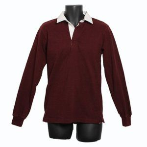 PSYCHO BUNNY Collared Sweater Burgundy Men's Small